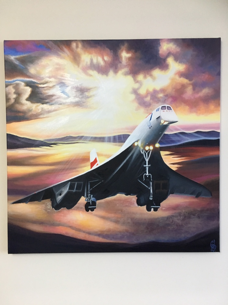 Concorde at Eventide