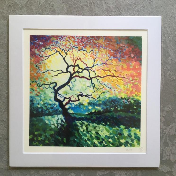 Dappled Light with Tree print